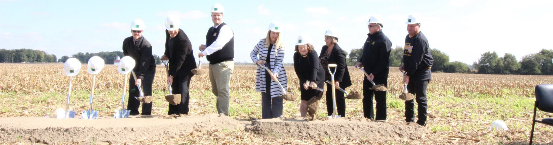 Clark-Shawnee Board Members broke ground on the new preschool through 6th grade facility on Oct. 13.