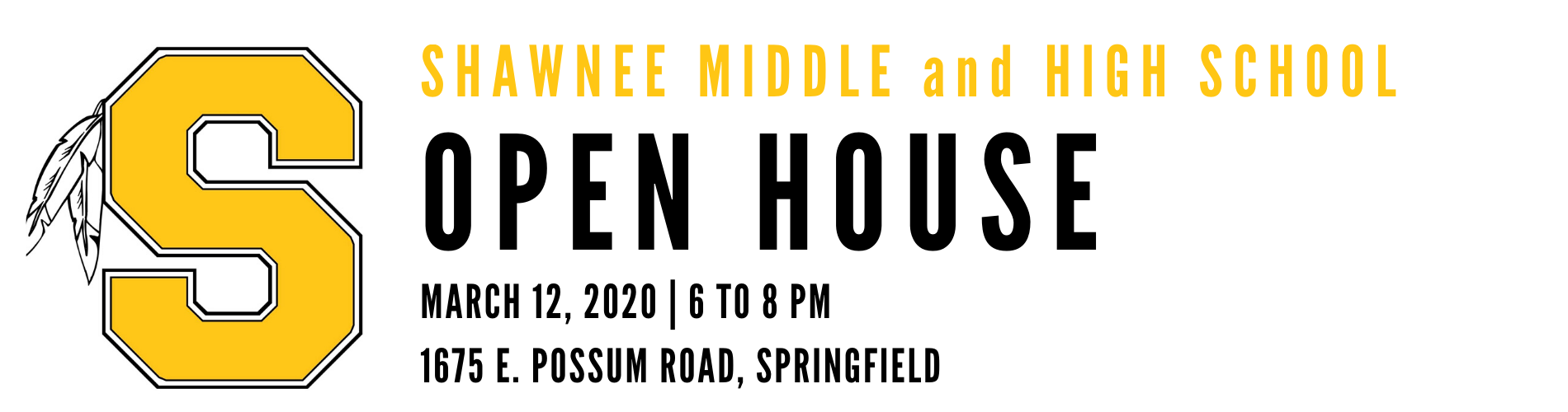 Shawnee Middle and High School Renovation Open House, March 12, 2020 at 6 to 8 p.m.