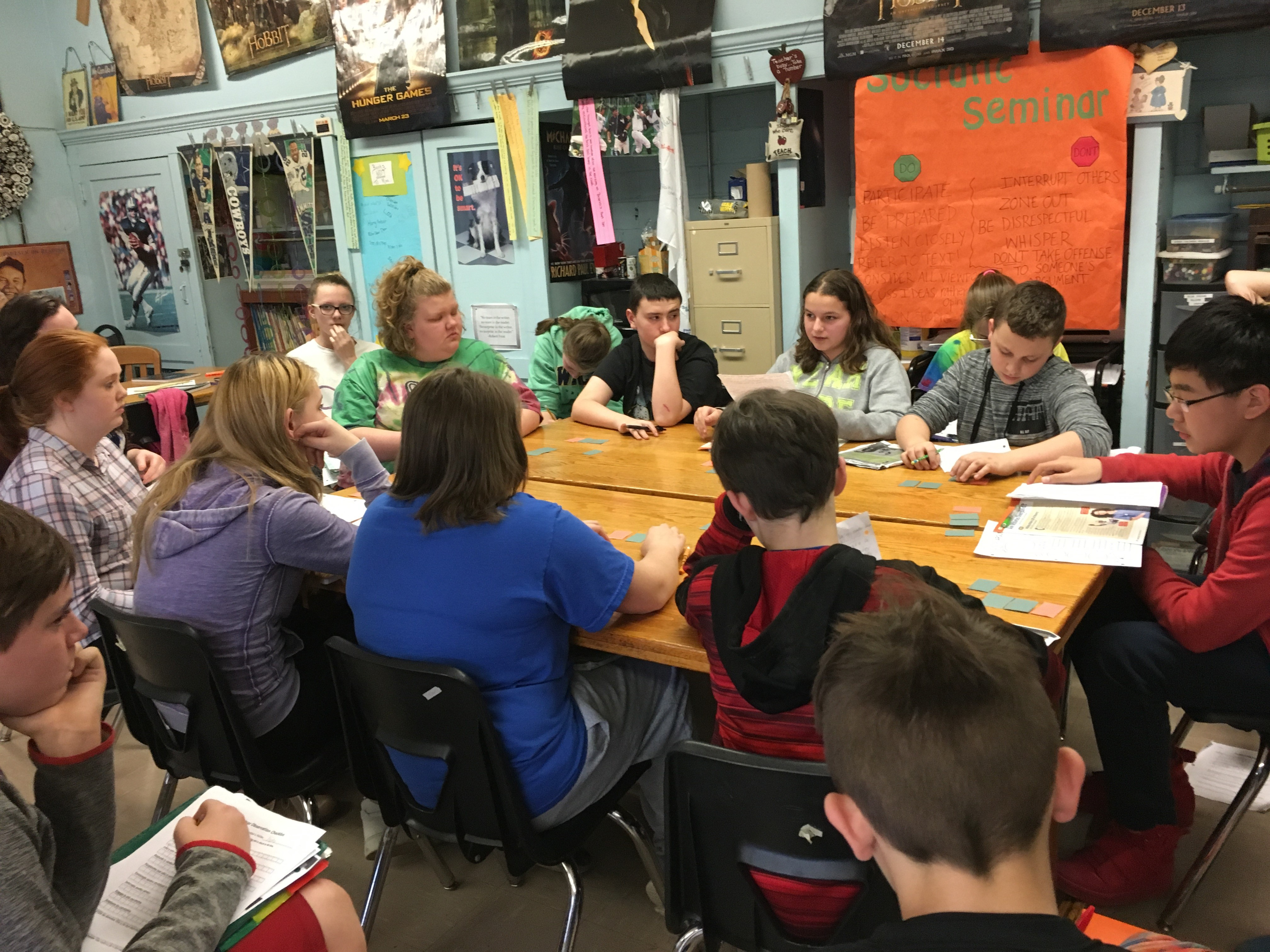 7th Graders rocking their Socratic Debates
