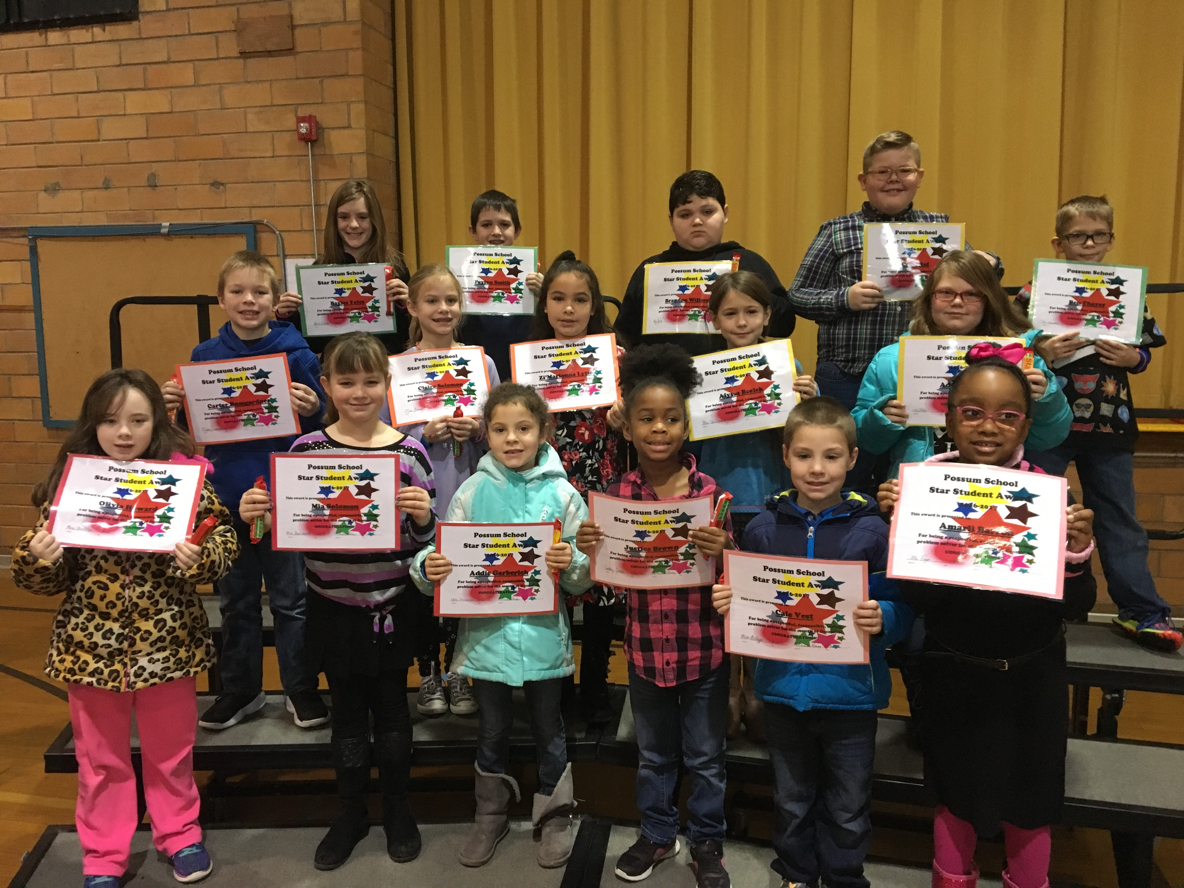 December Star Students - Elementary