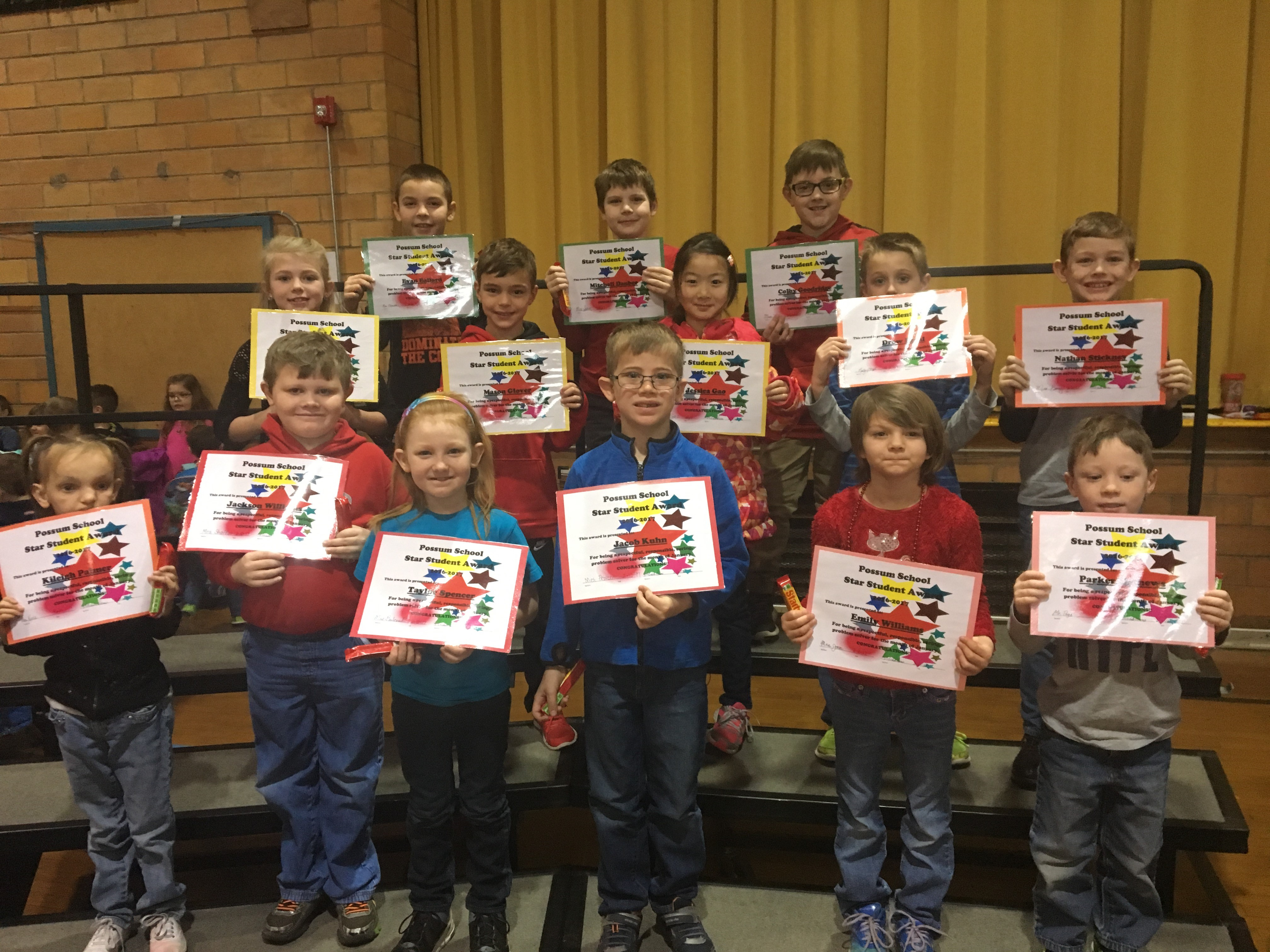 January Star Students - Elementary