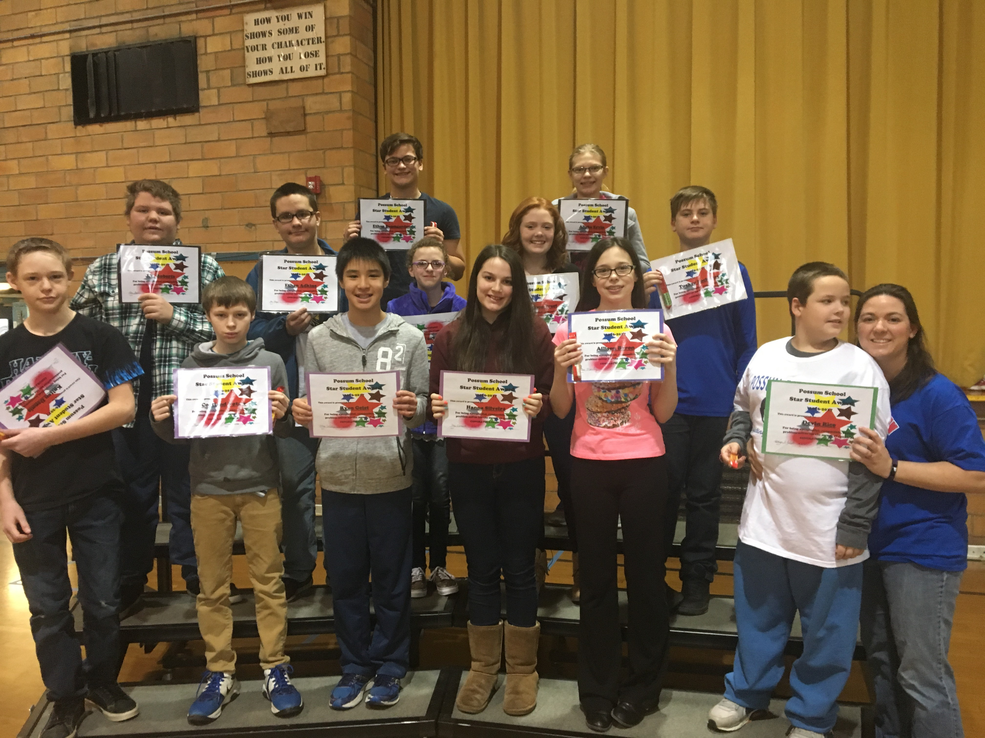 January Star Students - Middle
