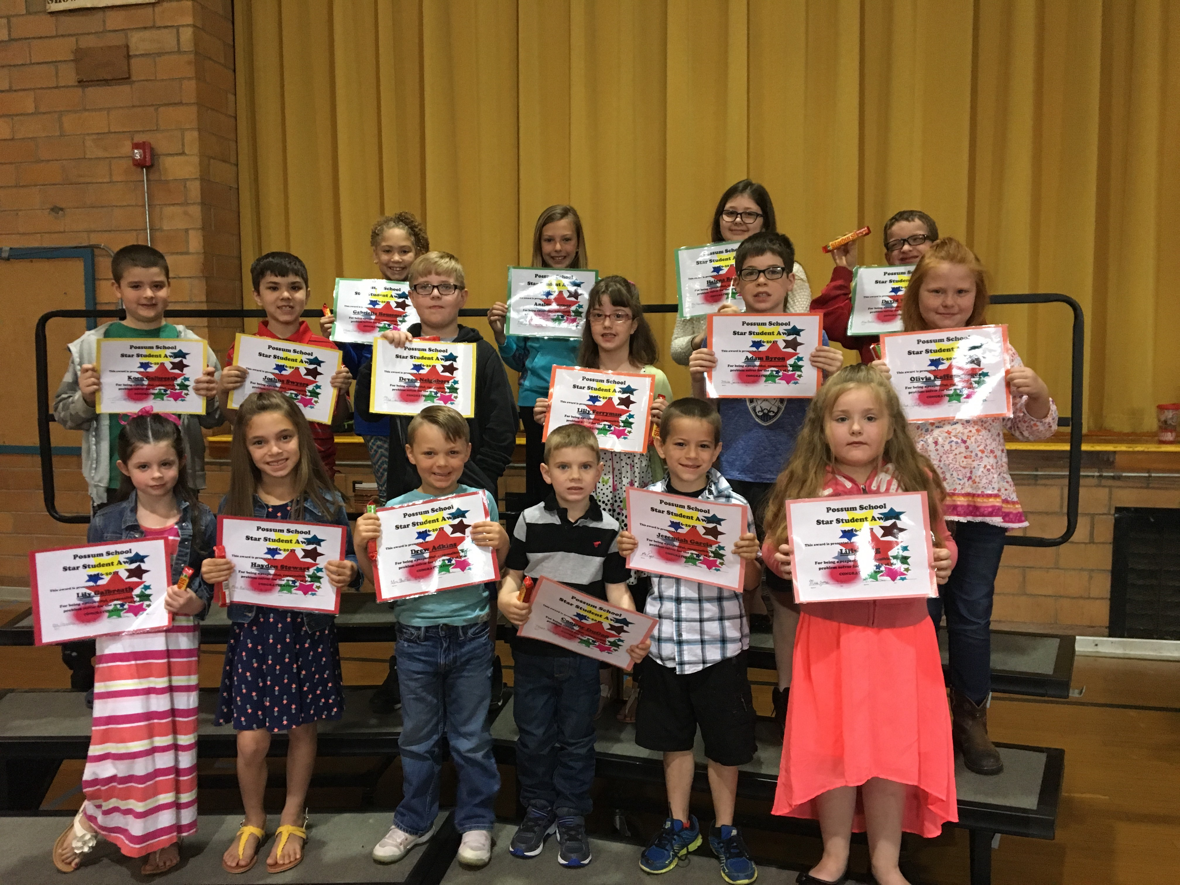 March Star Students - Elementary