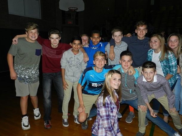 8th graders at the fall dance