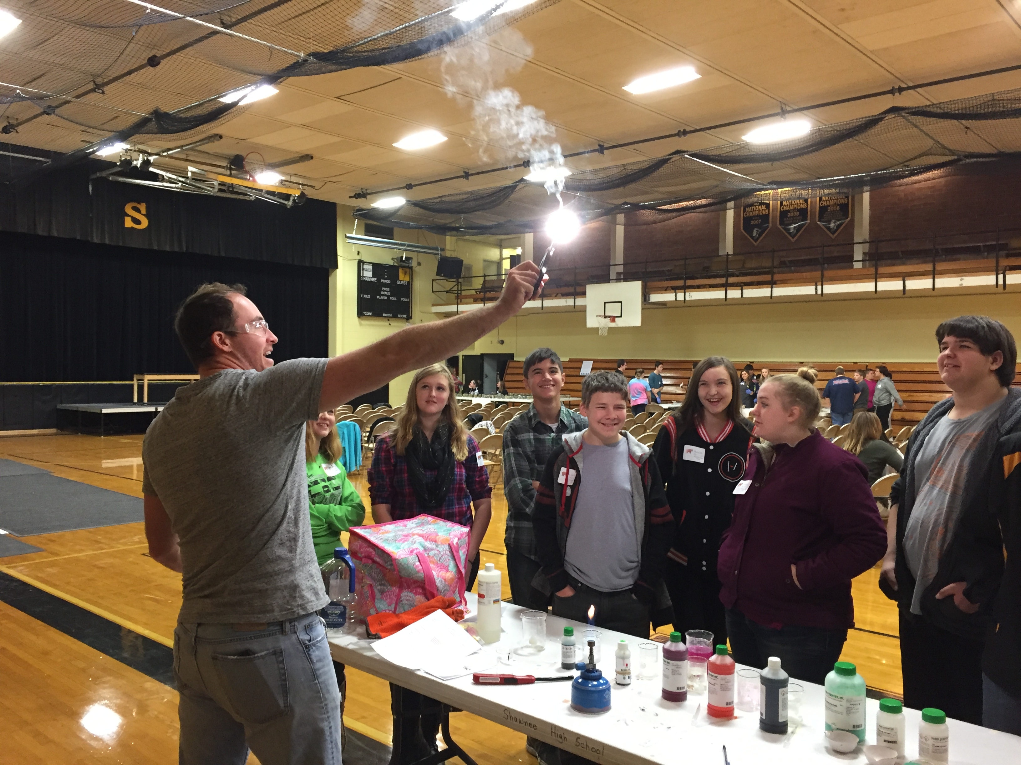Shawnee High School hosted Science Day to highlight the science curriculum and programs offered at the school.